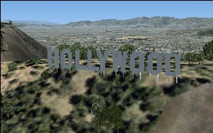 Hollywood Sign, FSX